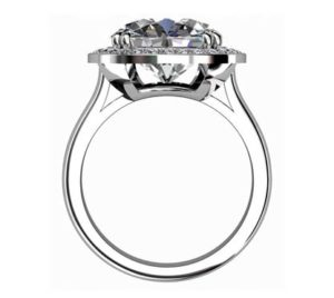 Princess Cut Diamond Halo Engagement Ring 3 3 2