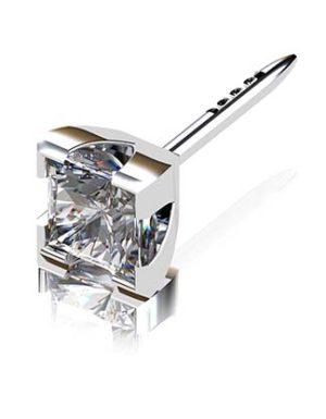 Princess Cut Diamond Stud Earrings in a V Shape Setting 4 2
