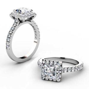 Princess Cut Halo Engagement Ring 1 2