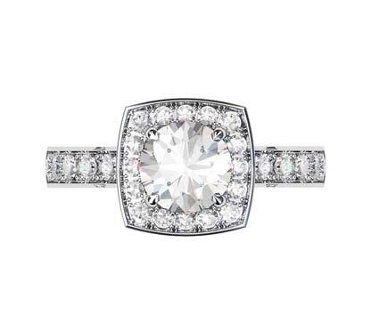 Round Brilliant Cut Diamond Engagement Ring 2 1 2