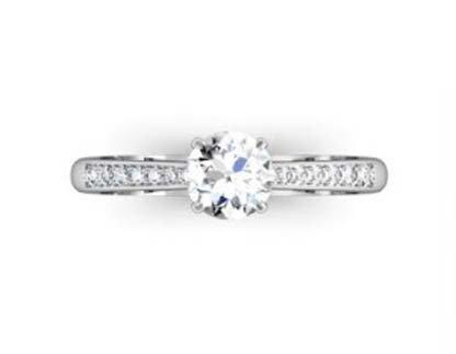 Round Brilliant Cut Diamond Engagement Ring 2 4