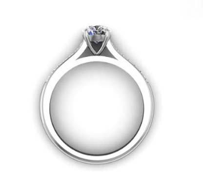 Round Brilliant Cut Diamond Engagement Ring 3 4