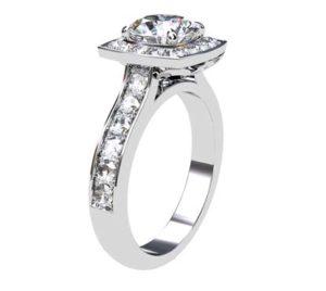 Round Brilliant Cut Diamond Engagement Ring 4 1 2