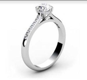 Round Brilliant Cut Diamond Engagement Ring 4 4