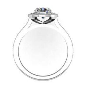 Round Brilliant Cut Diamond Milgrain Beaded Engagement Ring 3 2