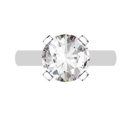 Round Brilliant Cut Diamond Solitaire Engagement Ring 2 2