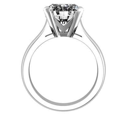 Round Brilliant Cut Diamond Solitaire Engagement Ring 3 2