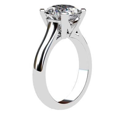 Round Brilliant Cut Diamond Solitaire Engagement Ring 4 2