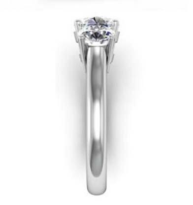 Round Brilliant Cut Diamond Three Stone Engagement Ring 5 1 2
