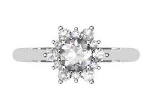 Round Brilliant Cut Snowflake Halo Diamond Ring 2 2