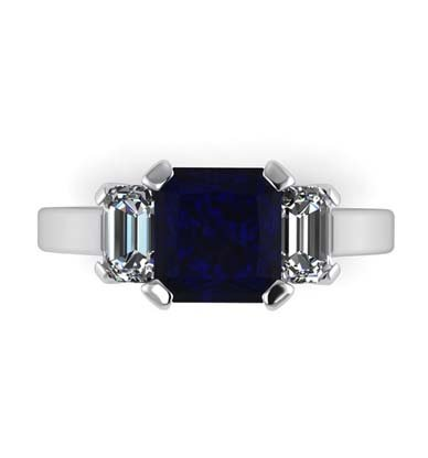Sapphire Three Stone Engagement Ring 2 2