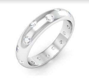 Scatter Flush Set Diamond Wedding Band 4