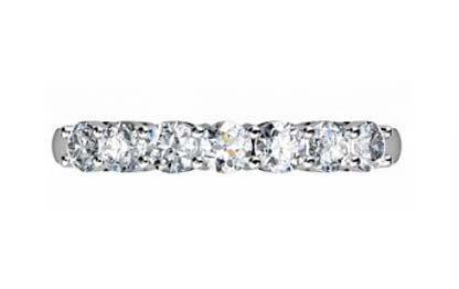 Seven Claw Set Diamond Wedding Band 4