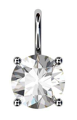 Simple Single Stone Diamond Pendant 1 2