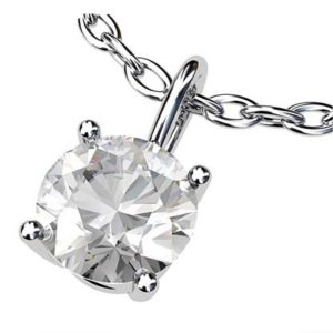 Simple Single Stone Diamond Pendant 2 1