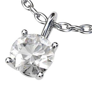Simple Single Stone Diamond Pendant 3 2
