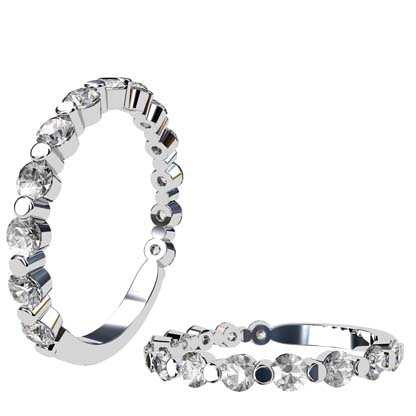 Single Claw Round Brilliant Cut Diamond Wedding Ring 1