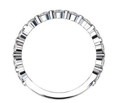 Single Claw Round Brilliant Cut Diamond Wedding Ring 3