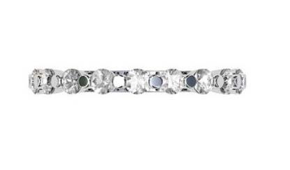 Single Claw Round Brilliant Cut Diamond Wedding Ring 4