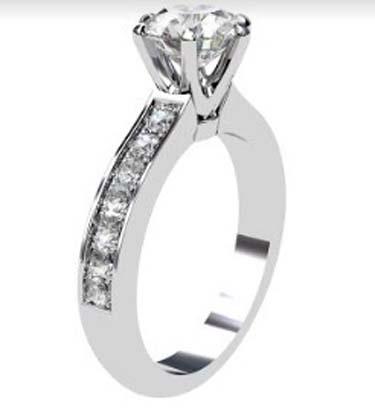 Six Prong Brilliant Cut Diamond Engagement Ring 4 2
