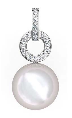 South Sea Pearl Earrings with Diamond Circle 4 2