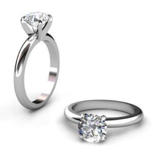 Three Carat Round Brilliant Cut Diamond Solitaire Engagement Ring 1 4
