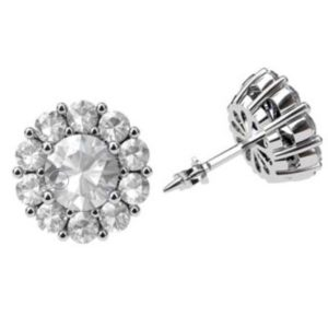 Traditional Diamond Cluster Stud Earrings 1 1 2