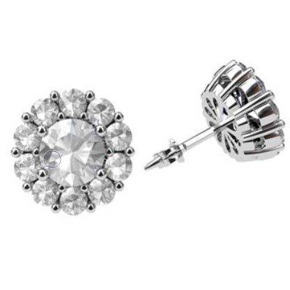 Traditional Diamond Cluster Stud Earrings 1 1 2