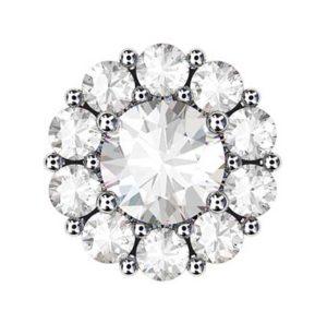 Traditional Diamond Cluster Stud Earrings 2 2
