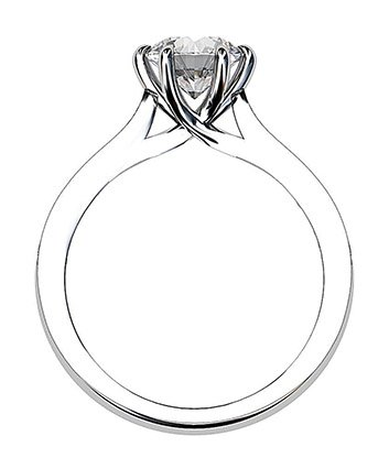Twisted Six Claw Round Ring with Pave Band 3 2
