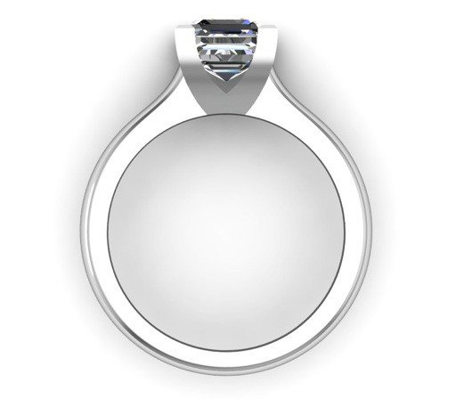 Two Carat Asscher Cut Solitaire Diamond Engagement Ring 3 2