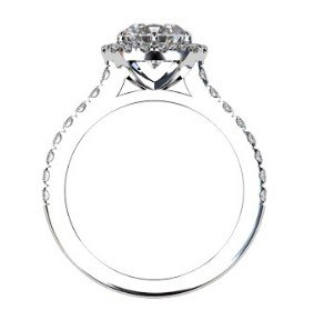 Two Carat Brilliant Cut Round Diamond Halo Engagement Ring 3 2