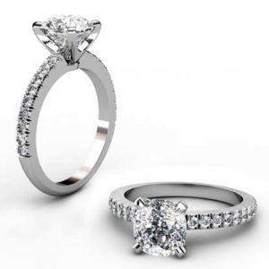 Two Carat Cushion Cut Diamond Engagement Ring 1 2