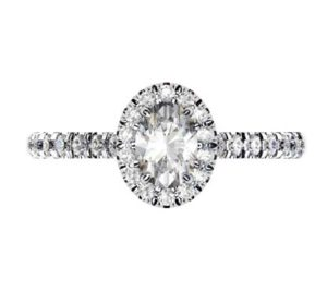 Two Carat Oval Diamond Halo Engagement Ring 2 2