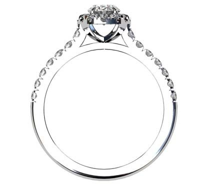 Two Carat Oval Diamond Halo Engagement Ring 3 2