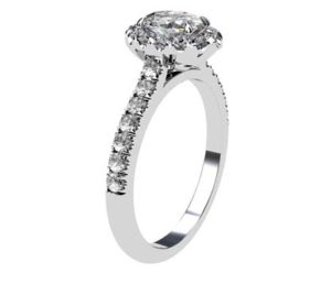 Two Carat Oval Diamond Halo Engagement Ring 4 2