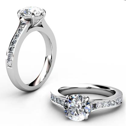 Two Carat Round Brilliant Cut Diamond Engagement Ring 1 2