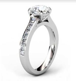 Two Carat Round Brilliant Cut Diamond Engagement Ring 4 2