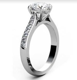 Two Carat Round Brilliant Cut Diamond Engagement Ring with Side Stones 4 2