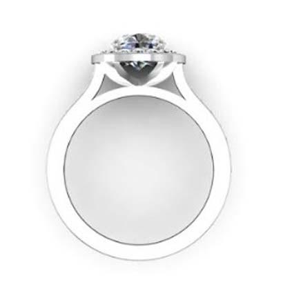 Two Carat Round Brilliant Cut Halo Diamond with Channel Set Diamonds Band 3 2