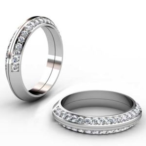 Two Part Diamond Fitted Wedding Band 1 1