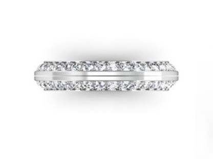 Two Part Diamond Fitted Wedding Band 2