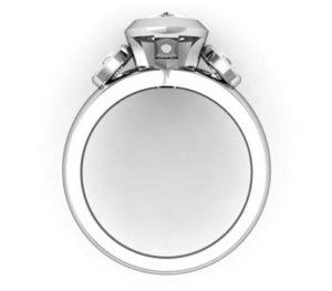 Unique Marquise Diamond Beveled Bezel Set Engagement Ring 3 2