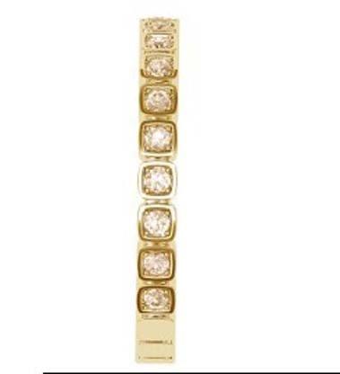 Unique Square Bead Set Champagne Diamond Eternity Band 5