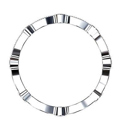 Vintage Eclipse Diamond Wedding Ring 4