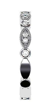 Vintage Eclipse Diamond Wedding Ring 5