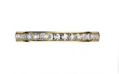 Yellow Gold Pave Set Diamond Half Eternity Band 2