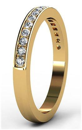 Yellow Gold Pave Set Wedding Ring 2 2