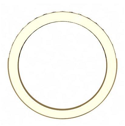 Yellow Gold Pave Set Wedding Ring 3 2