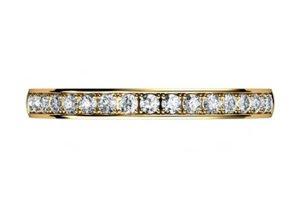Yellow Gold Pave Set Wedding Ring 4 2